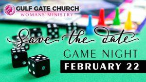game night, women's ministry