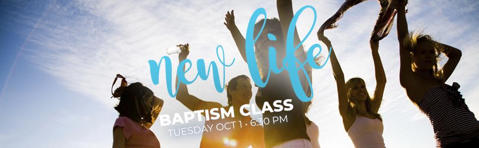new life baptism class, beach baptism