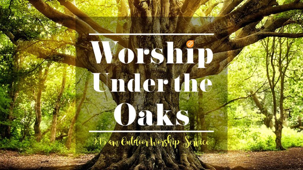 outdoor worship service, worship under the oaks, gulf gate church, churches near me, sarasota Florida, near siesta key beach